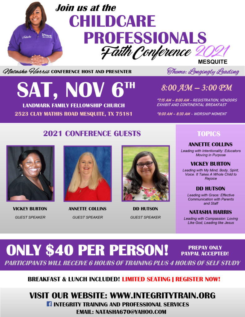 Childcare Professionals Faith Conference 2021